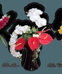 Hoa lụa, hoa giả Uyên shop, Hoa Phi yến – Lan – Thủy tiên