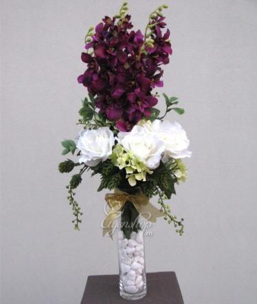 Hoa lụa, hoa giả Uyên shop, Hoa Đỗ Quyên Nhung