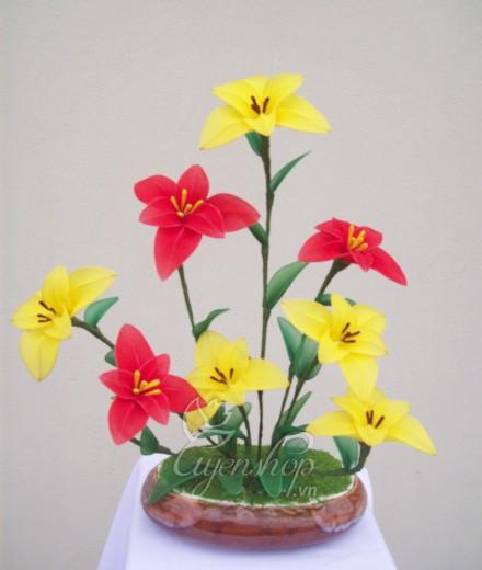 Hoa lụa, hoa giả Uyên shop, Hoa voan đa sắc
