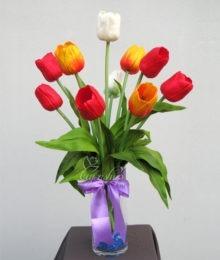 Hoa lụa, hoa giả Uyên shop, Hoa Tulip thơm