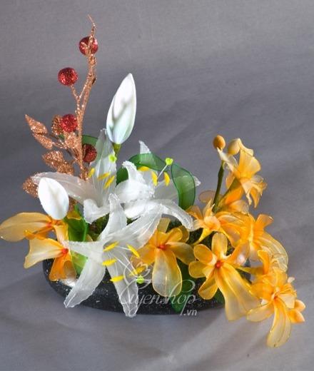 Hoa lụa, hoa giả Uyên shop, Hoa trang trí