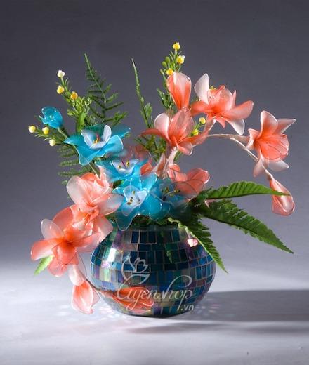 Hoa lụa, hoa giả Uyên shop, Lọ địa cầu