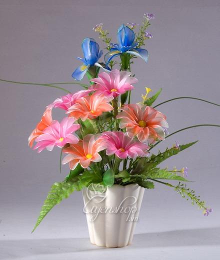 Hoa lụa, hoa giả Uyên shop, Hoa nghệ thuật sắc xuân