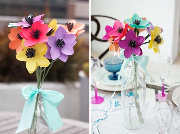 Hoa lụa, hoa giả Uyên shop, Làm hoa giấy theo chủ đề yêu thương