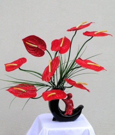 Hoa lụa, hoa giả Uyên shop, Hoa hồng môn