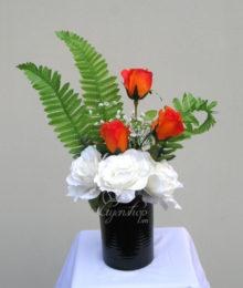 Hoa lụa, hoa giả Uyên shop, Hoa hồng tỏa nắng