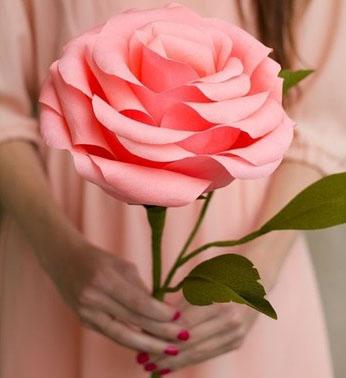 Hoa lụa, hoa giả Uyên shop, Cách làm hoa giấy cực đẹp