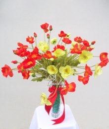 Hoa lụa, hoa giả Uyên shop, Hoa Anh Túc