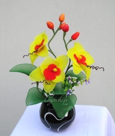 Hoa lụa, hoa giả Uyên shop, Lan Hồ Điệp