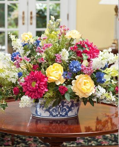 Hoa lụa, hoa giả Uyên shop, 6 ý tưởng trang trí nhà bằng hoa giả