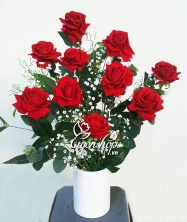 hoa hong nhung - hoa lua - uyenshop