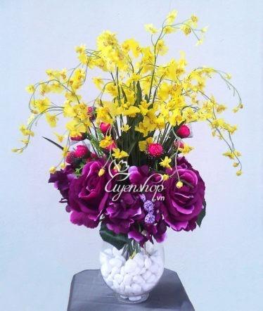 Hoa lụa, hoa giả Uyên shop, Lan vũ nữ