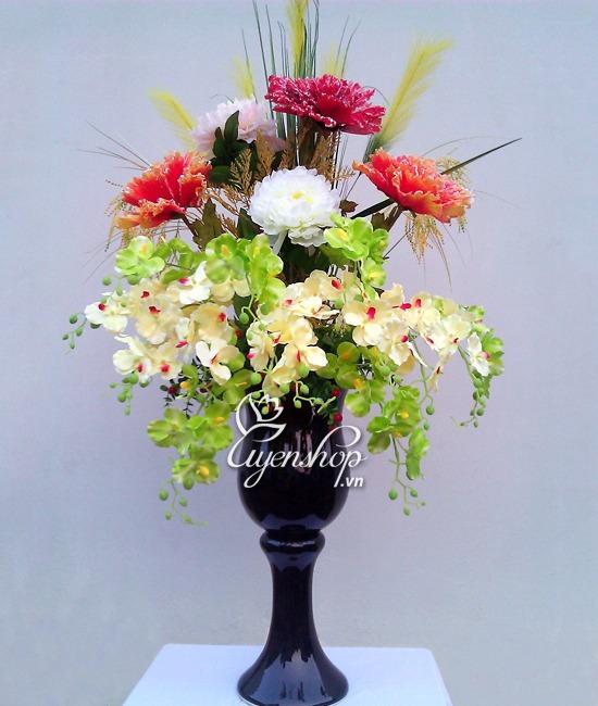 Hoa lụa, hoa giả Uyên shop, Mua hoa lụa vip ở đâu tại Hà Nội !