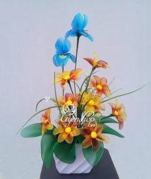Hoa lụa, hoa giả Uyên shop, Hoa voan nghệ thuật