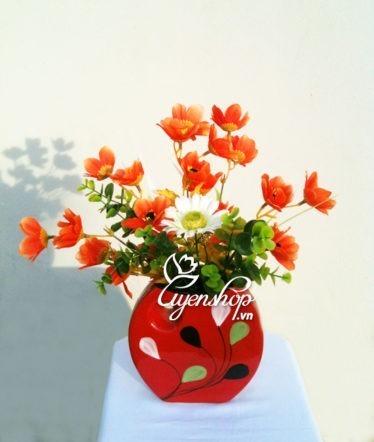 Hoa lụa, hoa giả Uyên shop, Bộ 3 Phát-Bình-Phúc