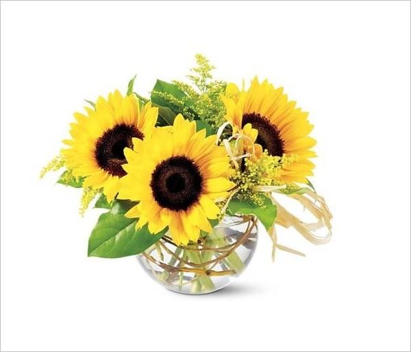 Hoa lụa, hoa giả Uyên shop, Chào hè với 5 cách cắm hoa hướng dương tươi đẹp