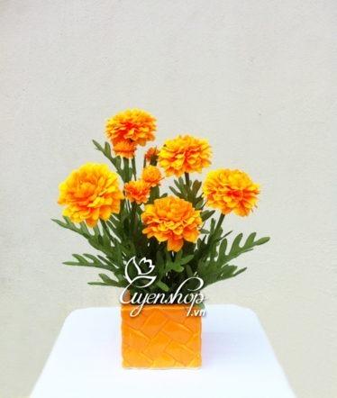 Hoa lụa, hoa giả Uyên shop, Cúc vạn thọ
