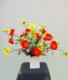 Hoa lụa, hoa giả Uyên shop, Hoa đẹp để bàn