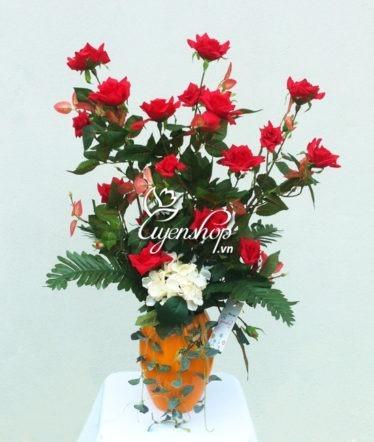 Hoa lụa, hoa giả Uyên shop, Hoa bàn thờ