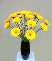 Hoa lụa, hoa giả Uyên shop, Hoa Đồng Tiền vàng