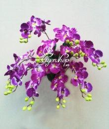 Hoa lụa, hoa giả Uyên shop, Lan treo tường tím