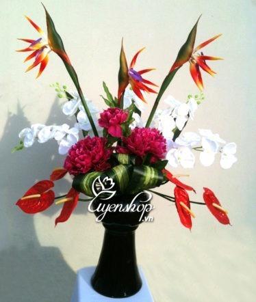Hoa lụa, hoa giả Uyên shop, Hoa Thiên Điểu