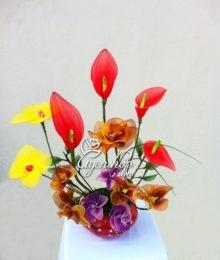 Hoa lụa, hoa giả Uyên shop, Ngũ sắc hương hoa