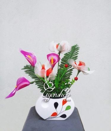 Hoa lụa, hoa giả Uyên shop, Hoa lá mùa xuân