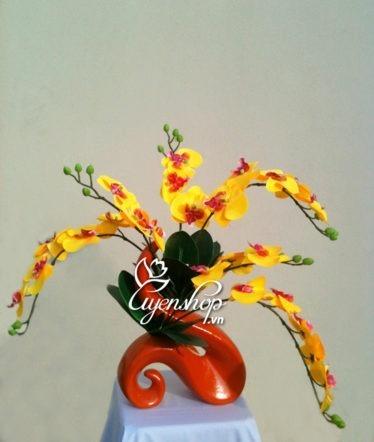 Hoa lụa, hoa giả Uyên shop, Nghệ thuật Lan hồ điệp