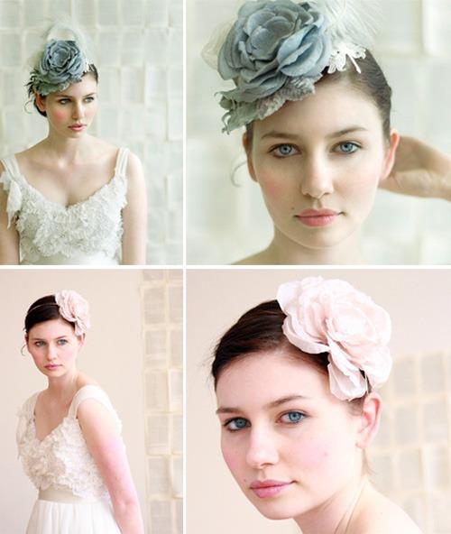 Hoa lụa, hoa giả Uyên shop, Làm duyên mái tóc cô dâu bằng hoa lụa