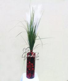 Hoa lụa, hoa giả Uyên shop, Bình cỏ lau
