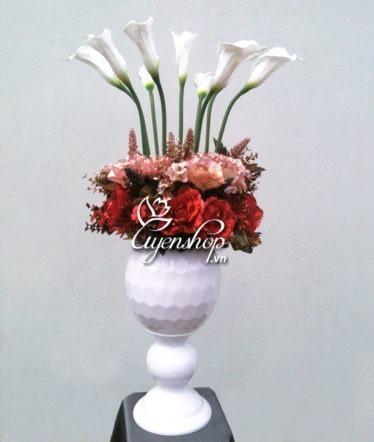Hoa lụa, hoa giả Uyên shop, Hoa đại sảnh