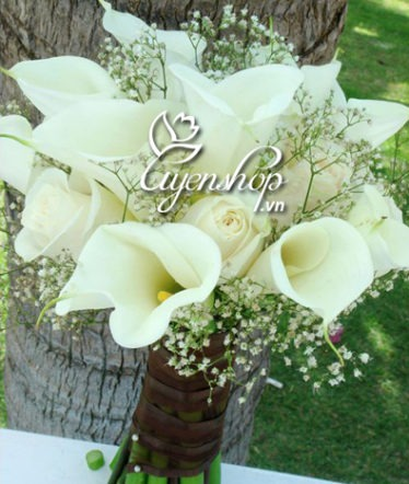 Hoa lụa, hoa giả Uyên shop, Hoa rum cưới