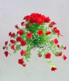 Hoa lụa, hoa giả Uyên shop, Hoa giấy đỏ