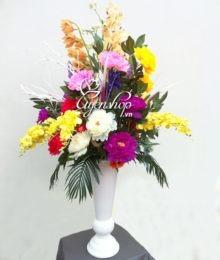Hoa lụa, hoa giả Uyên shop, Hoa tặng tân gia