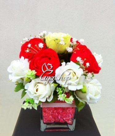 Hoa lụa, hoa giả Uyên shop, Hoa hồng tình yêu