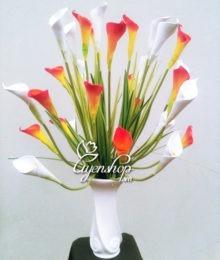Hoa lụa, hoa giả Uyên shop, Bình hoa Rum