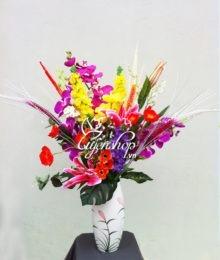 Hoa lụa, hoa giả Uyên shop, Hoa lụa đa sắc