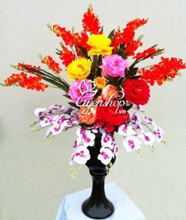 Hoa lụa, hoa giả Uyên shop, Khai xuân chúc phúc