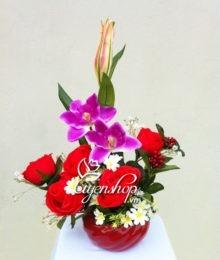 Hoa lụa, hoa giả Uyên shop, Hoa tình yêu