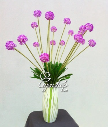 Hoa lụa, hoa giả Uyên shop, Cẩm tú cầu tím
