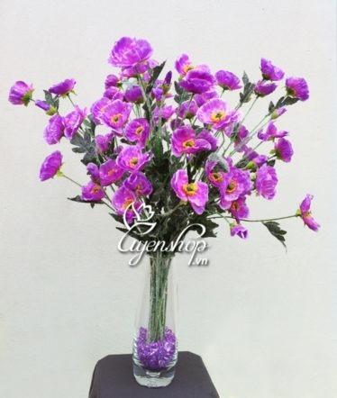 Hoa lụa, hoa giả Uyên shop, Hoa tím Anh túc