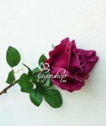 Hoa lụa, hoa giả Uyên shop, Hồng Tím cành