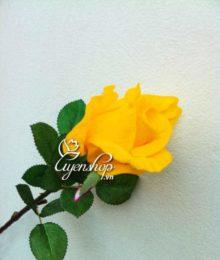 Hoa lụa, hoa giả Uyên shop, Hồng Vàng cành