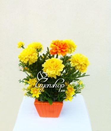 Hoa lụa, hoa giả Uyên shop, Sắc vàng xuân sang