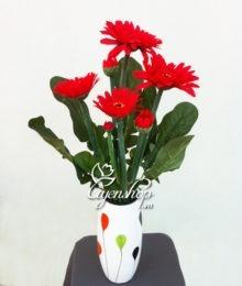 Hoa lụa, hoa giả Uyên shop, Đồng tiền đỏ