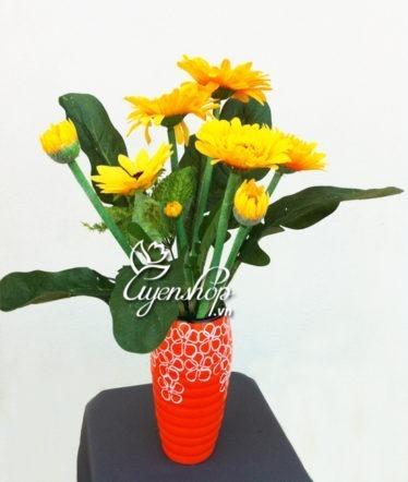 Hoa lụa, hoa giả Uyên shop, Đồng tiền vàng