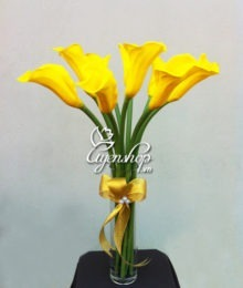 Hoa lụa, hoa giả Uyên shop, Hoa Rum vàng