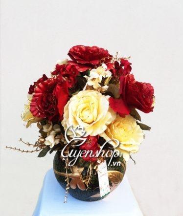Hoa lụa, hoa giả Uyên shop, Hoa Hồng Châu Âu
