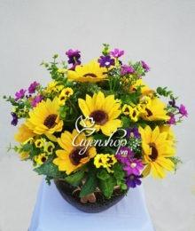 Hoa lụa, hoa giả Uyên shop, Hoa Hướng Dương